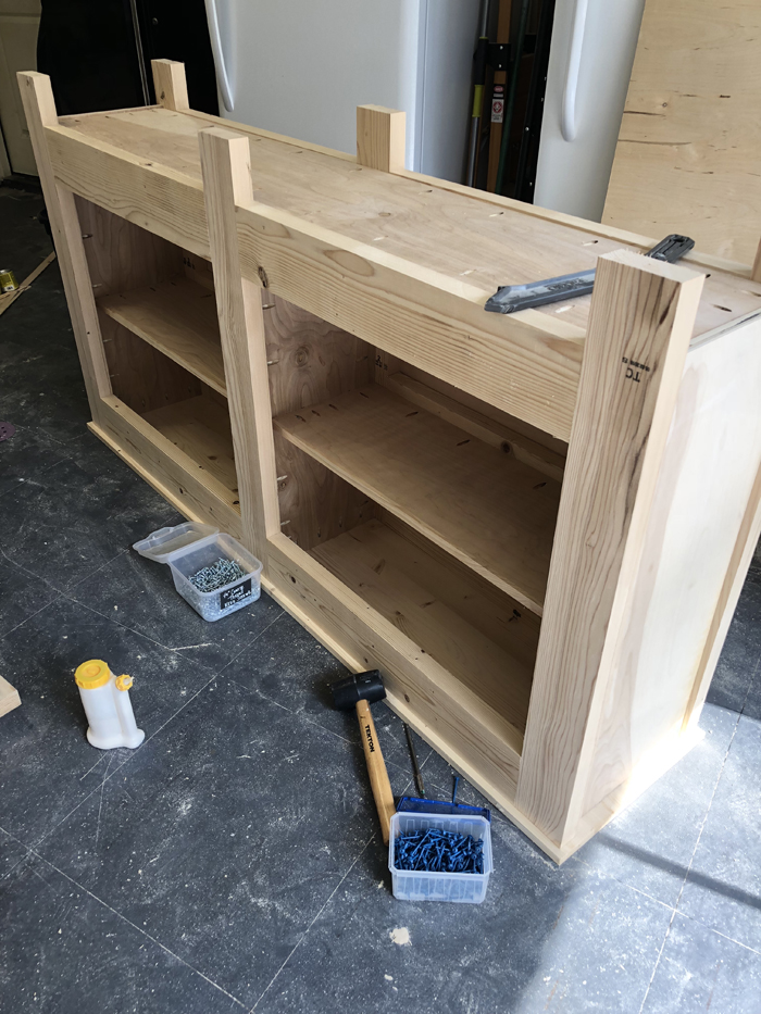 DIY Wide Double Door Console