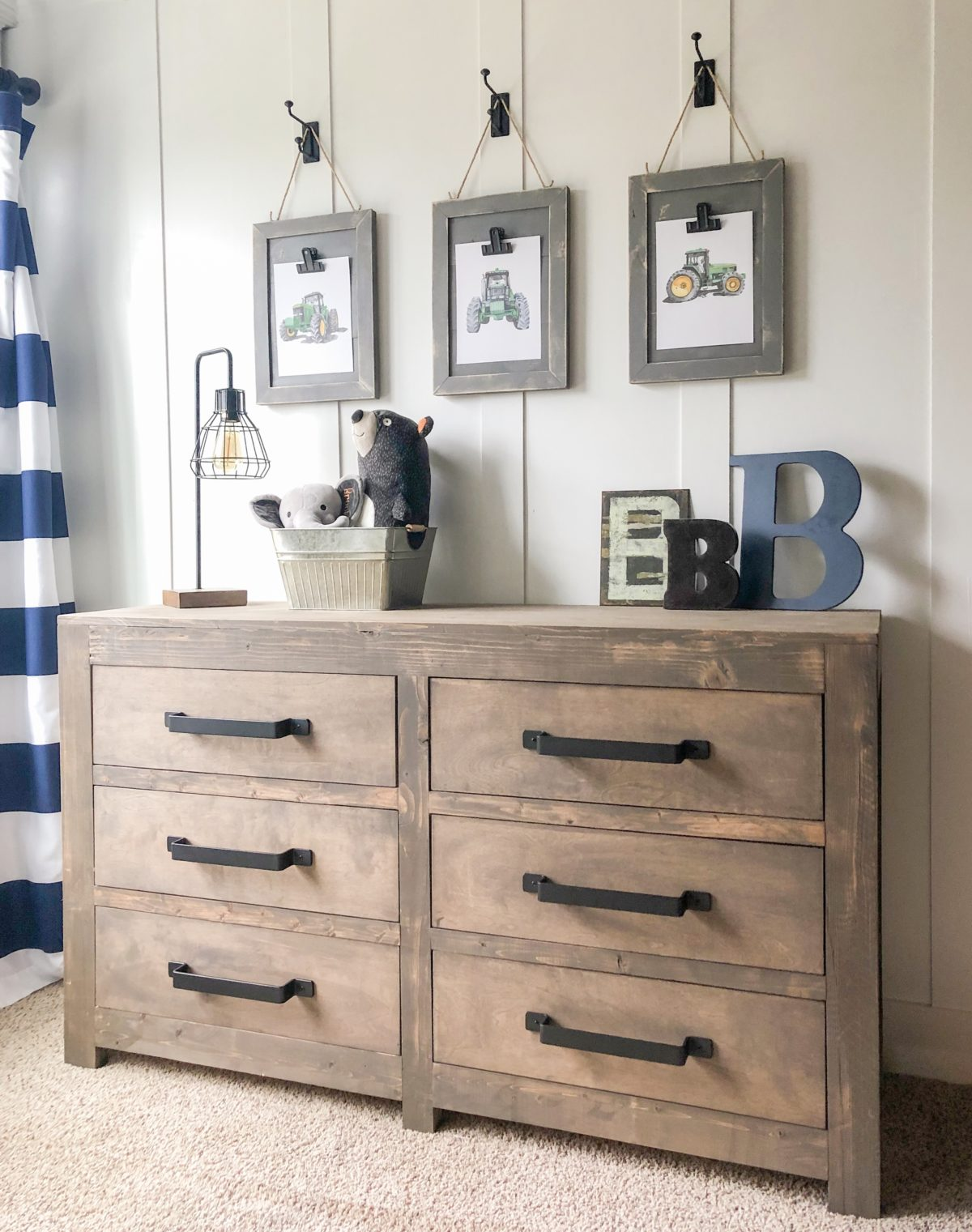 DIY Modern Farmhouse 6 Drawer Dresser