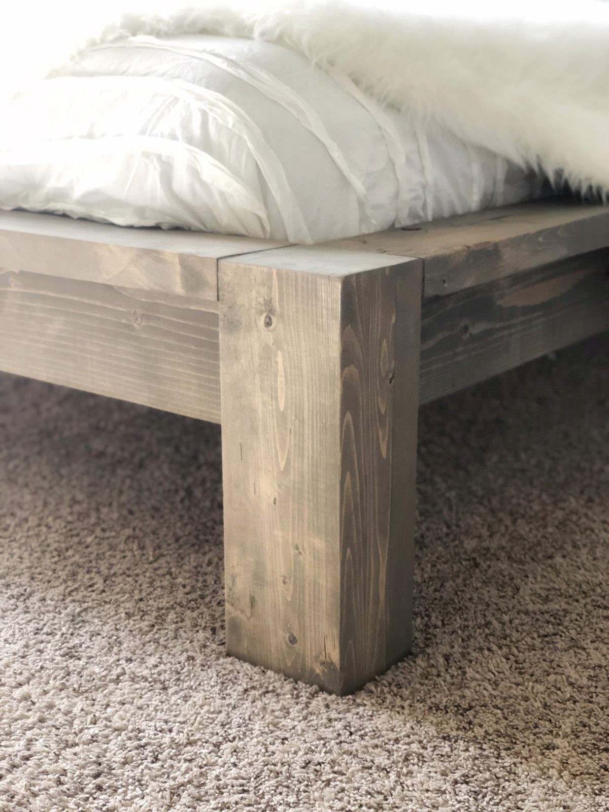 DIY Rustic Modern Queen Bed