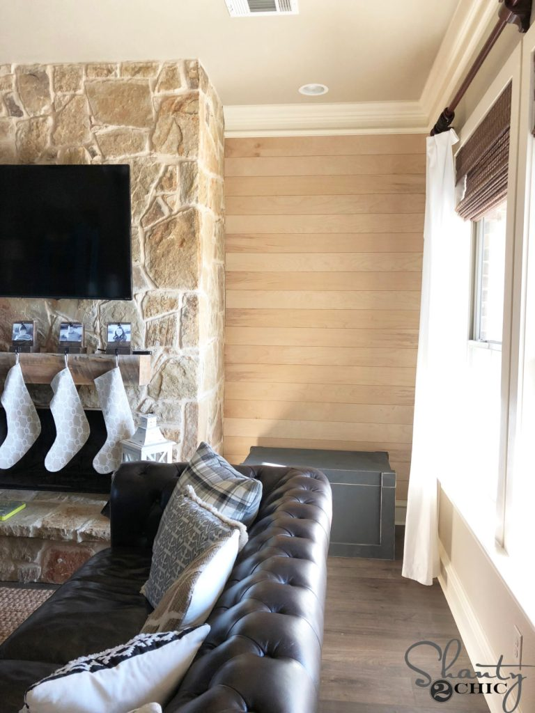 Shiplap Around My Fireplace