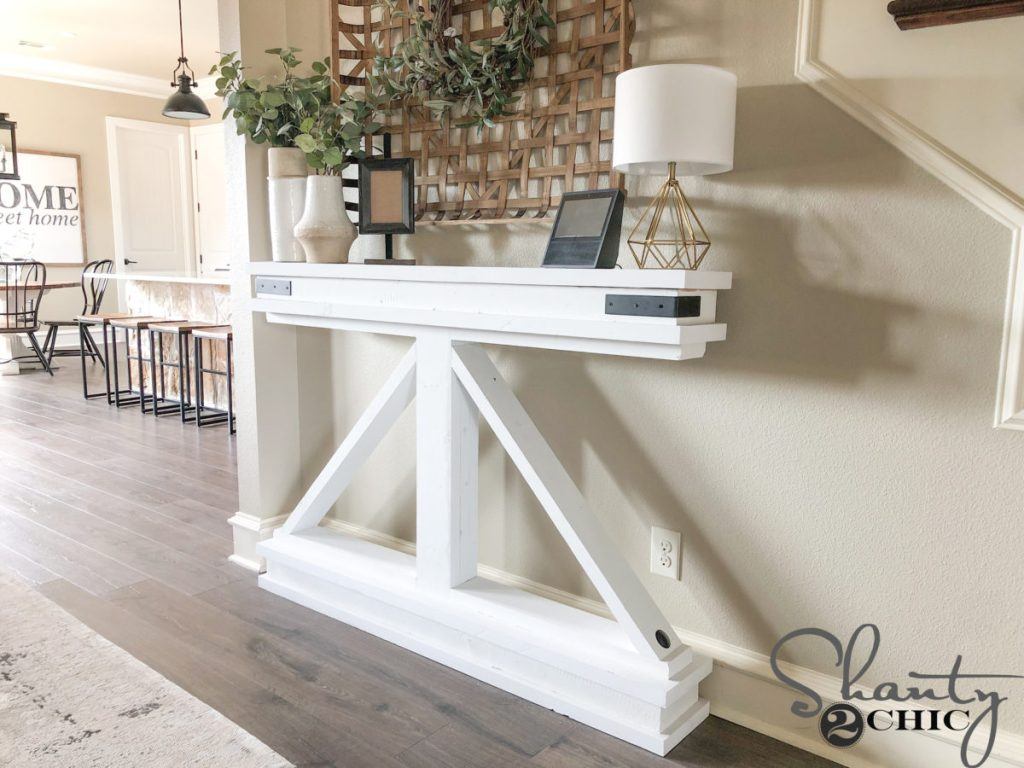 DIY Narrow Console Table