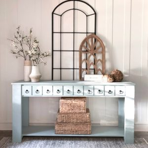 DIY Faux Drawer Console Table
