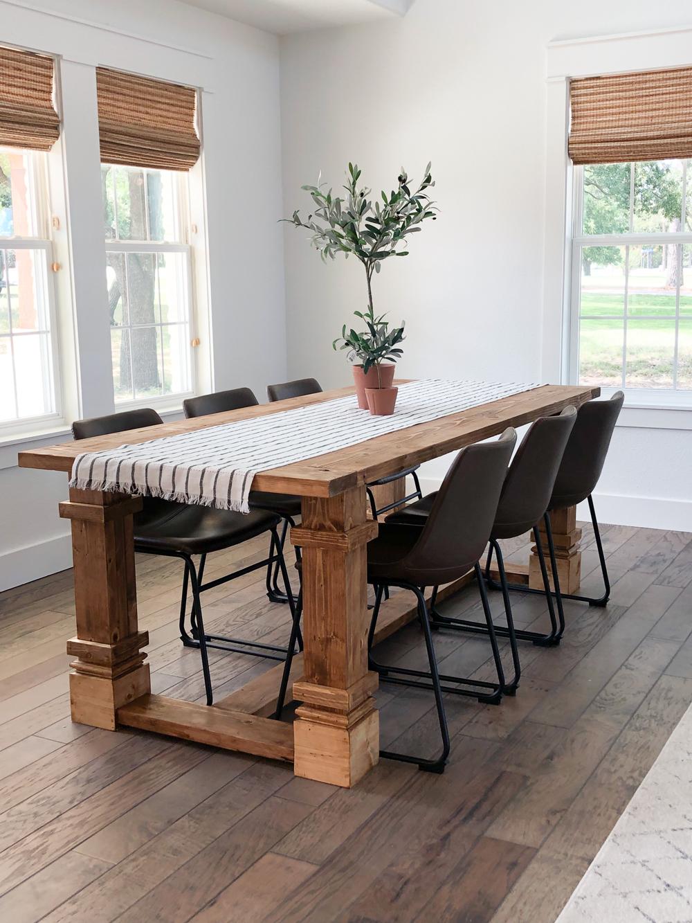 Diy Modern Farmhouse Dining Table For The Flip House Shanty 2 Chic