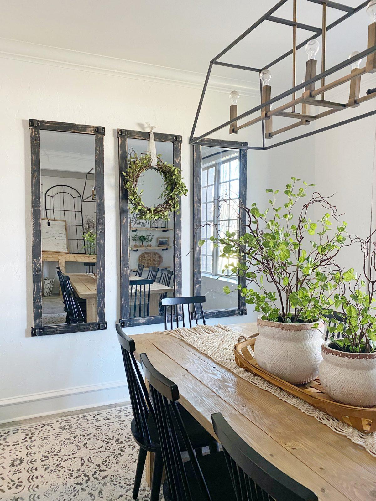 DIY $50 Full Length Wall Mirrors