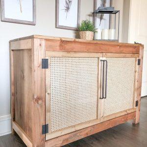 DIY-Cane-Door-Console