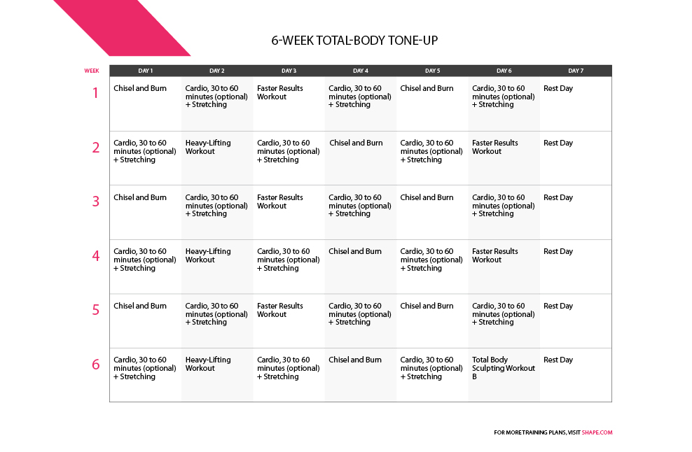 How To Tone Up In A Month: Workout Plan: Monthly Total-Body Transformation