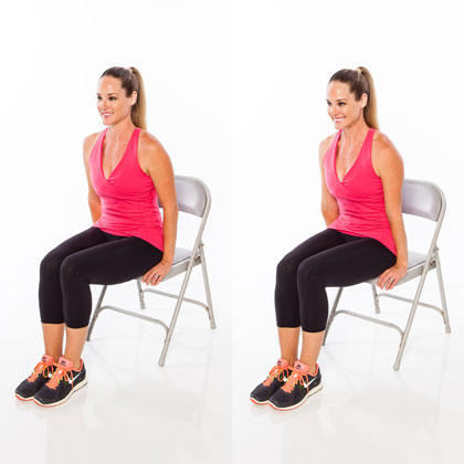 chair gym workout videos bouncy saucer seated full body routine shape magazine sneaky buns and guns