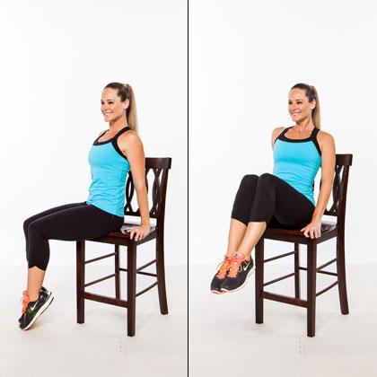 chair exercises for abs wooden church chairs with kneelers workout stand up a flat stomach shape magazine crescent knee sweep