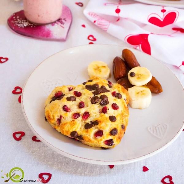 Το πρωινό της αγάπης από τη διαιτολόγο Σταυρούλα Κρίκη με συνταγή για smoothie και scones! #healthyvalentine