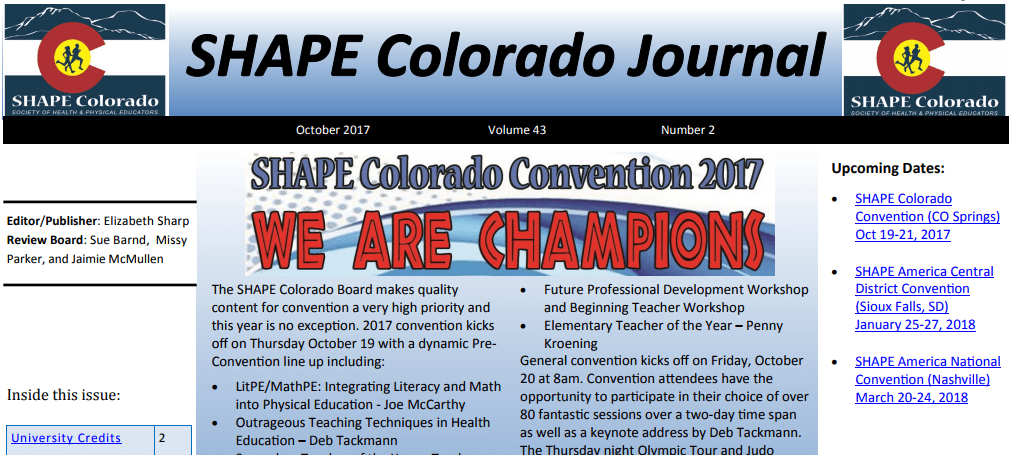 SHAPECO October 2017 Journal – Convention Edition