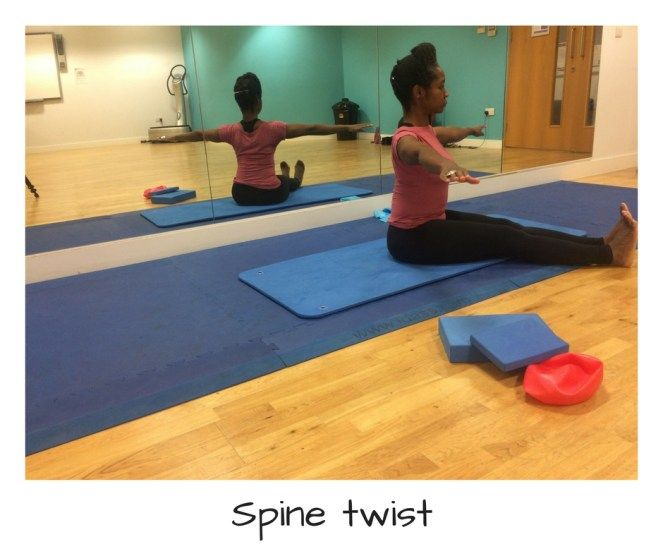Spine twist Pilates abs exercise
