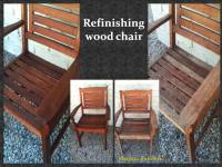 Refinishing Wood chairs by Shapira Builders