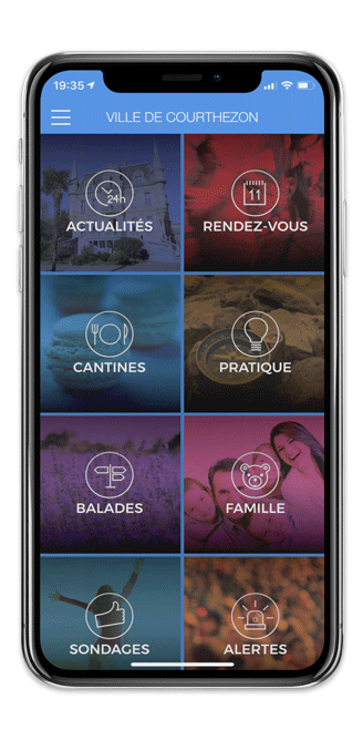 Application mobile ville de Courthézon
