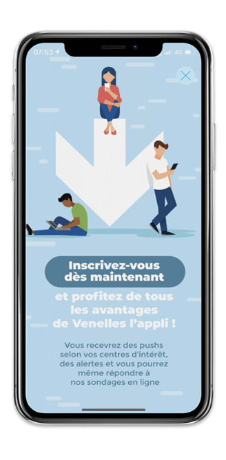 Application mobile interstitiel