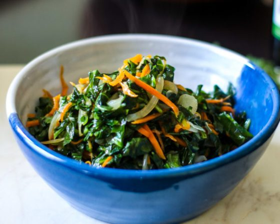 Collard Greens with Carrots