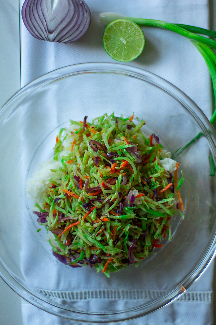 Broccoli Slaw Rice Bowl