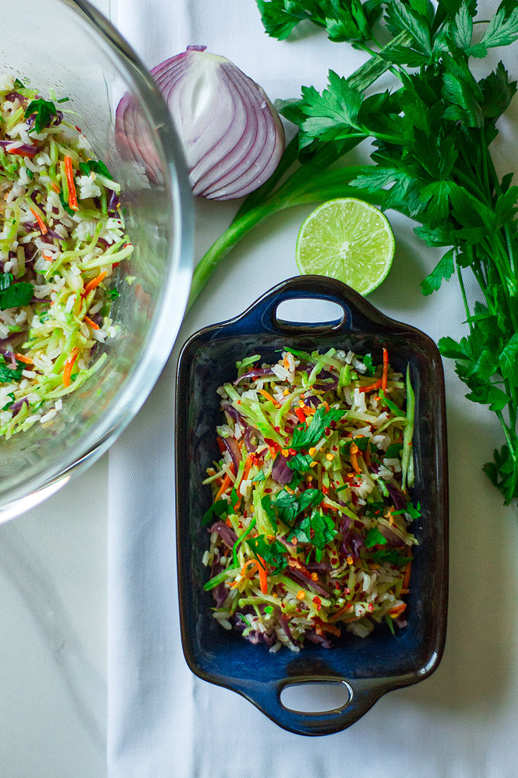 Broccoli Slaw Rice