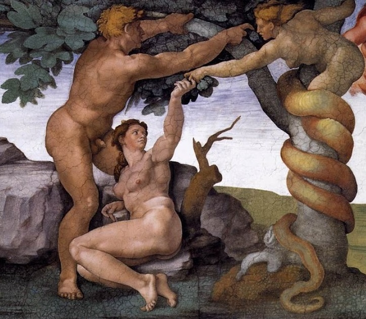 Michelangelo Fall and Expulsion From Garden of Eden
