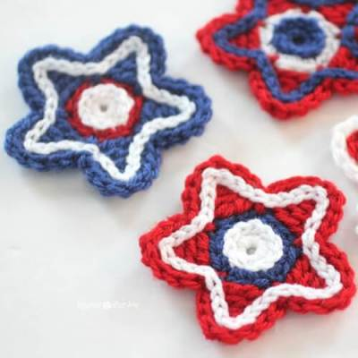Patriotic Crocheted Stars