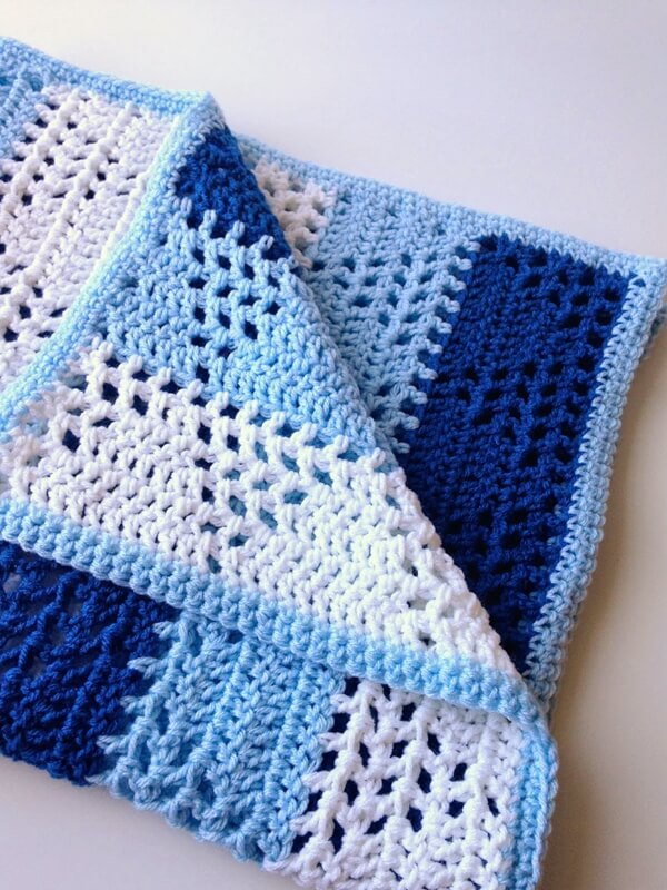 Triangles & Stripes Baby Blanket
