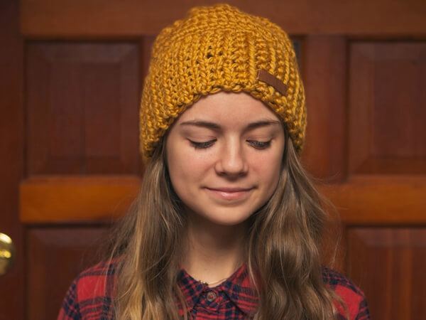Beginner Crochet Beanie Pattern