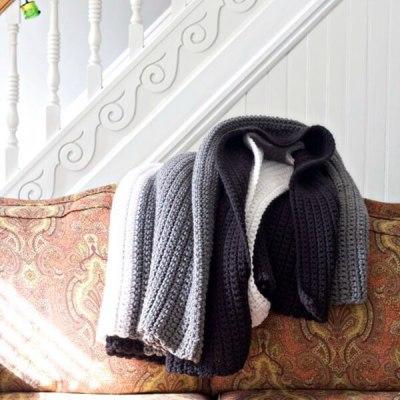Easy Chunky Crochet Blanket