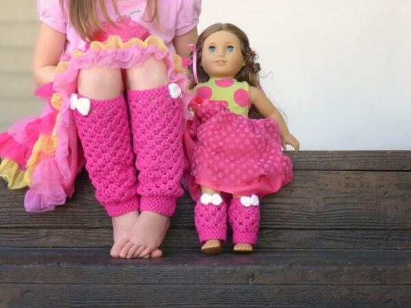 Girly leg warmers