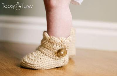Wrap Around Button Baby Boots