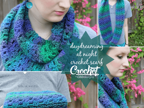 Daydreaming at Night Crochet Scarf