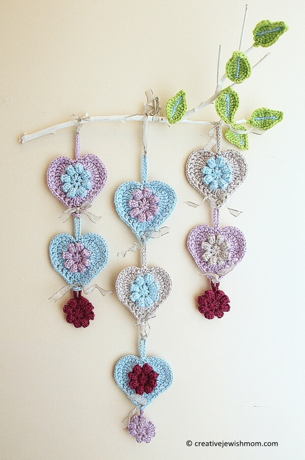Hearts Wall Hanging On A Limb