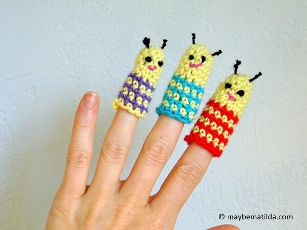 Bug Buddies Crochet Finger Puppets
