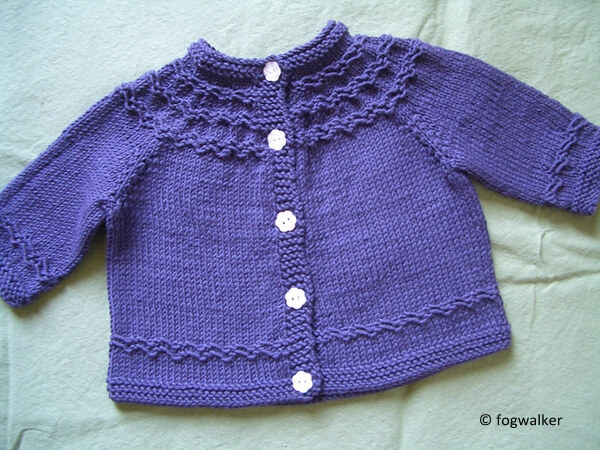 Seamless Yoked Baby Sweater