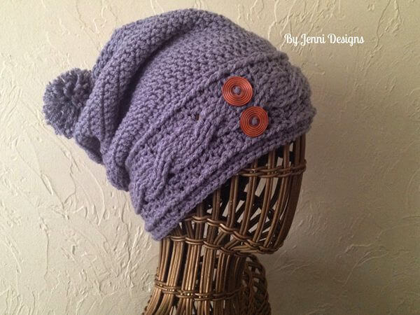 Women's Slouchy Cable Hat