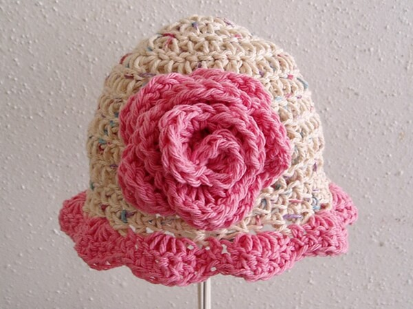 Blooming Rose Baby Hat
