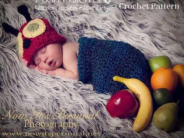 Baby Caterpillar Hat & Cocoon