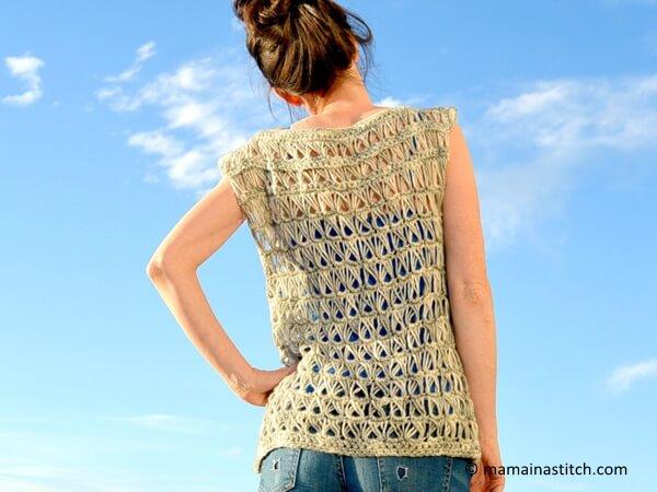 Broomstick Lace Crochet Top