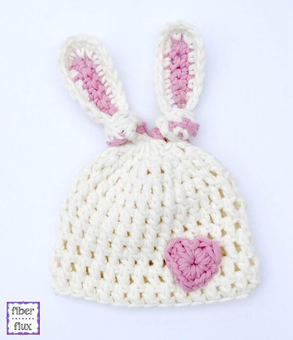 Newborn Bunny Knot Hat