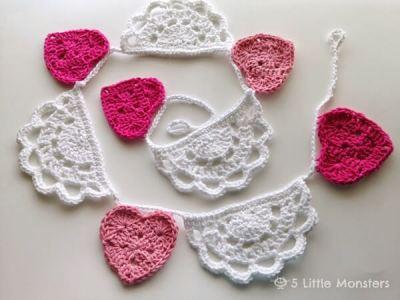 Crochet Doily Bunting