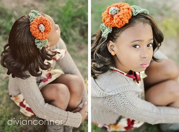 Pumpkin headband