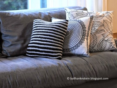 Chunky Knit Look Crochet Pillow