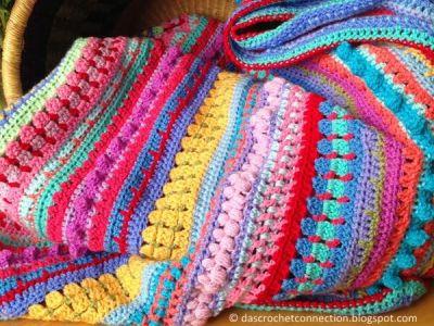 Multi-stitch Stripe Blanket