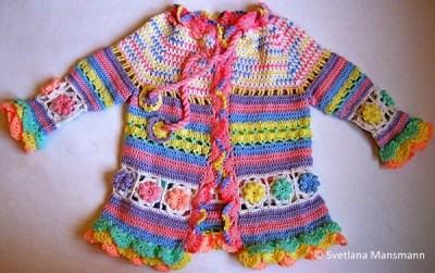 Little girl's colorful summer coat