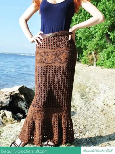Crochet Maxi Skirt Free Pattern