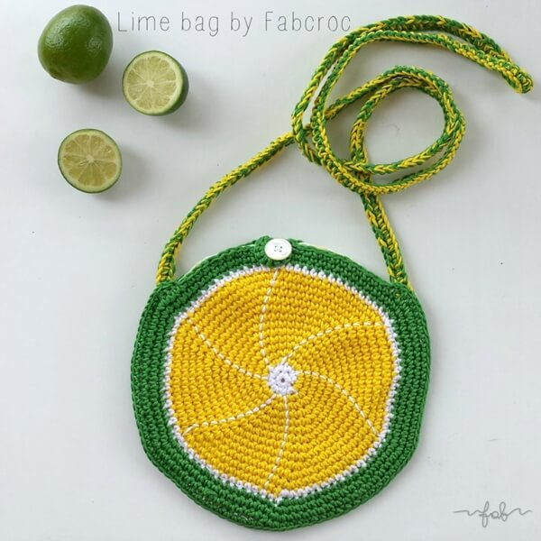 Lime Crochet Bag