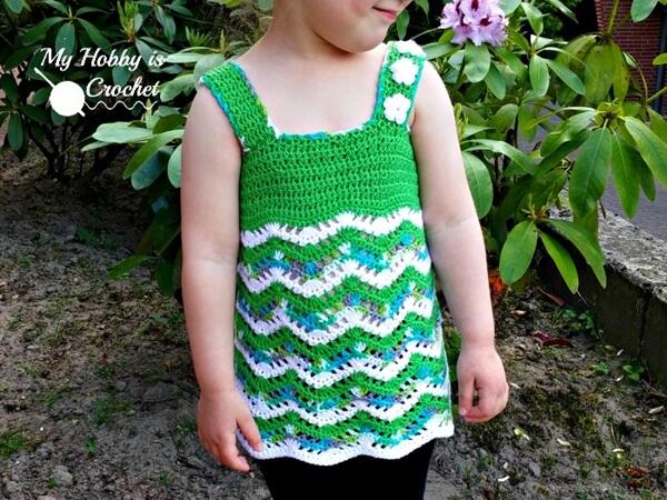 chevron crochet top free pattern