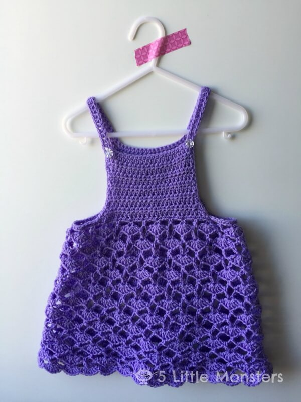 Lacy Shells Crocheted Toddler Top