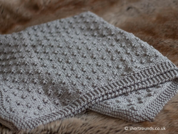 Knot Stitch Baby Blanket
