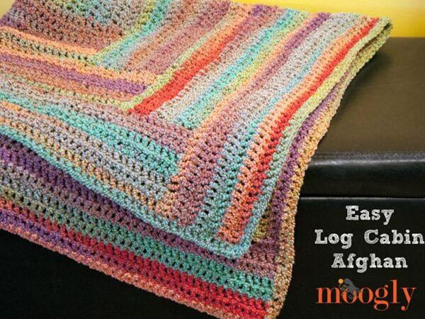 Easy Log Cabin Afghan