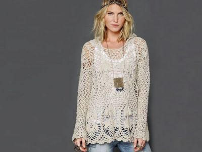 Trendy Crochet Tunic