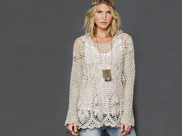 Trendy Crochet Tunic